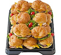 Deli Catering Tray Croissant Sandwich 12-16 Servings - Each (Please allow 24 hours for delivery or pickup)