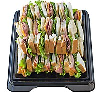 Deli Catering Tray Finger Sandwich 18 Inch Square Tray 12-16 Servings - Each (Please allow 24 hours for delivery or pickup)