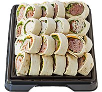 Deli Catering Tray Pinwheel 12 Inch Square Tray 12-16 Servings - Each (Please allow 24 hours for delivery or pickup)