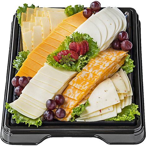 Deli Catering Tray Sliced Cheese 16 Inch Square Tray 30-36 Servings - Each (Please allow 24 hours for delivery or pickup)