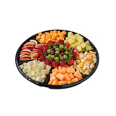 Deli Catering Tray Nibbler Fruit & Cheese 18 Inch