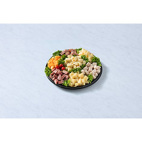 Deli Catering Tray Nibbler Meat & Cheese 12 Inch