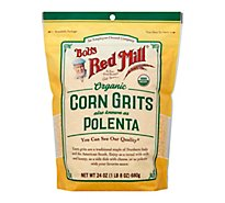 Bobs Red Mill Organic Corn Grits Polenta - 24 Oz