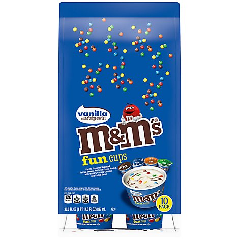 M&Ms Ice Cream Vanilla Fun Cups - 30 Fl. Oz.
