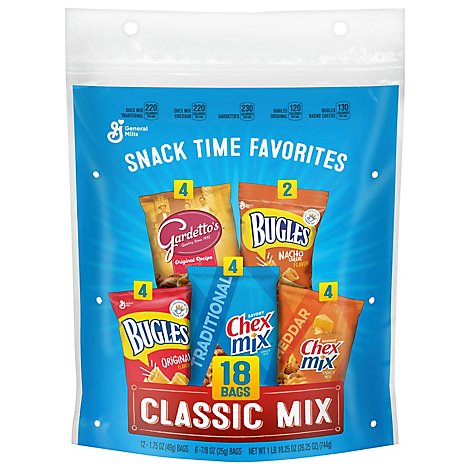 General Mills Snack Time Favorites Classic Mix 18 Bags - 26.25 Oz