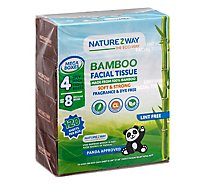 Bamboo Mega Facial Tissue Rectangle 120 Sheets 100% 4pk - Each
