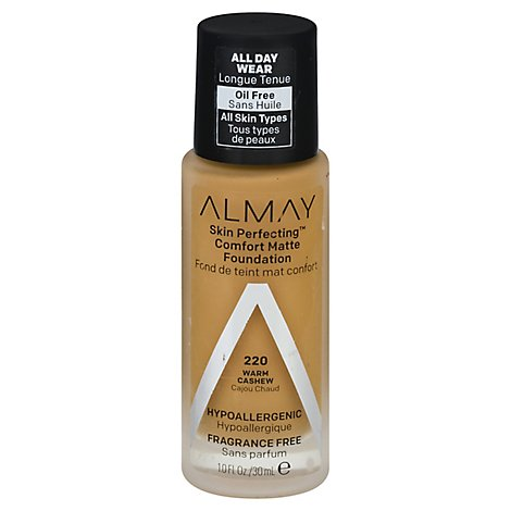 Almay Skin Perfecting Foundation Comfort Matte Warm Cashew - 10 Fl. Oz.