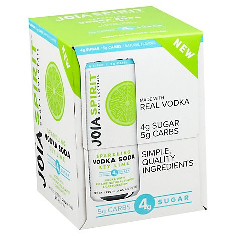 Joia Vodka Soda - 4-12 Oz