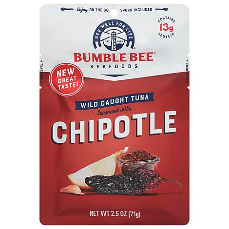 Bumble Bee Tuna Seasoned Chipotle - 2.5 Oz