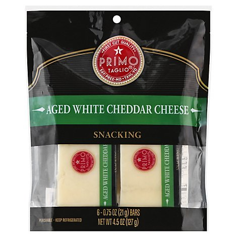 Primo Taglio Cheese Snacking Aged White Cheddar - 6-0.75 Oz