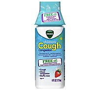 Vicks Childrens Cough Congestion Syrup Strawberry - 6 Fl. Oz.