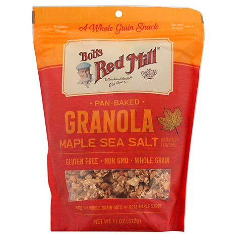 Bobs Red Mill Granola Homestyle Gluten Free Maple Sea Salt - 11 Oz