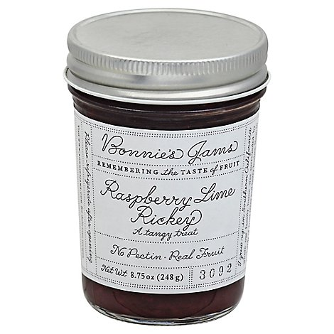Bonnies Jams Jam Raspberry Lime Rickey - 8.75 Oz