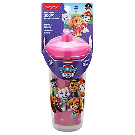 Playtex Cup Insulated Spill Proof Spout 12m+ 9 Ounce Paw Patrol Girl - Each