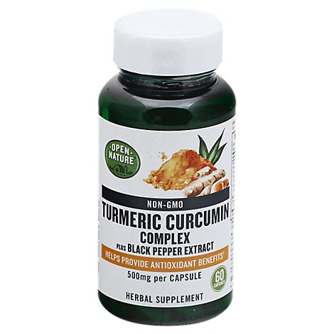 Open Nature Supplement Turmeric Curcumin - 60 Count