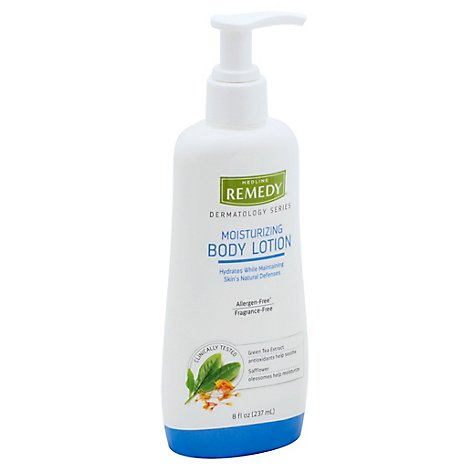 Medline Remedy Body Lotion Moisturizing Green Tea Extract & Safflower - 8 Fl. Oz.