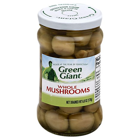 Green Giant Mushrooms Whole - 6 Oz