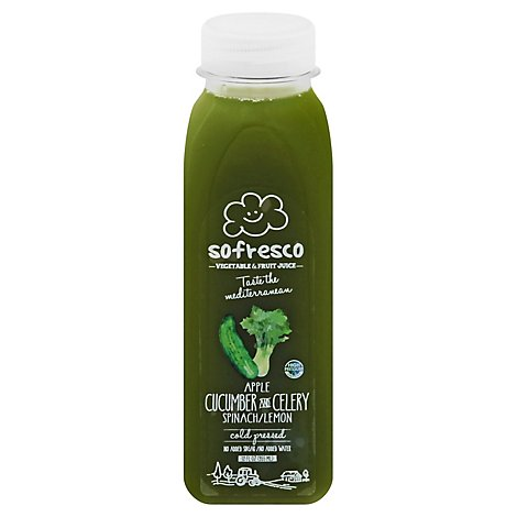 Sofresco Fruit & Vegetable Juice Apple Cucumber And Celery Spinach/Lemon - 12 Fl. Oz.