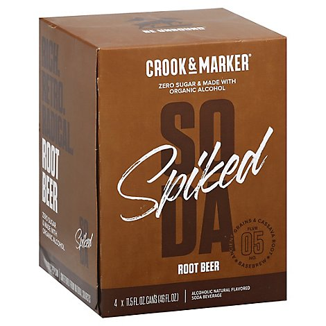 Crook & Marker Root Beer 6/4/12 Can - 4-12 Fl. Oz.
