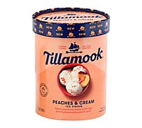 Tillamook 1.75 Quart Premium 13.5 Peaches And Cream Ice Cream - 1.75 Quart