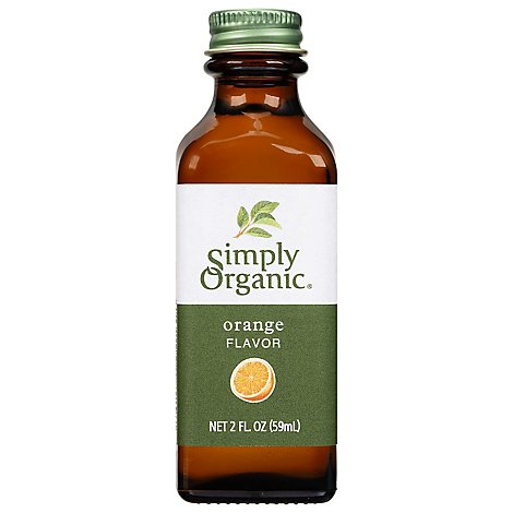 Simply Organic Orange Flavor - 2 Fl. Oz.