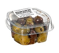 Fresh Pack Olive Mixed Sicilian Herb Pitted - 4.4 Oz