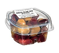 Fresh Pack Olive Mix Greek Pitted - 5.3 Oz