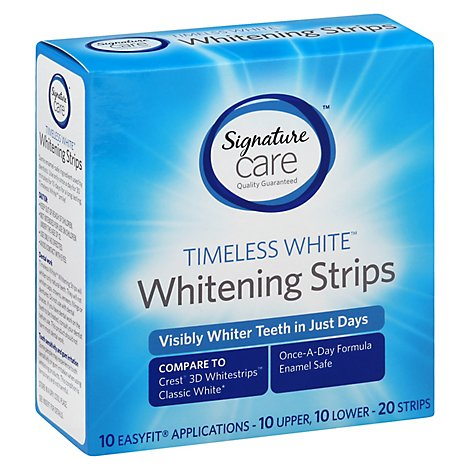 Signature Care Teeth Whitening Strips Timeless - 20 Count