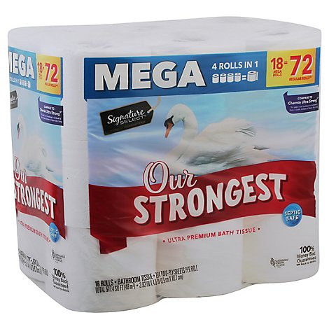 Signature Select Bath Tissue Strongest Mega - 18 Roll