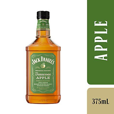 Jack Daniels Whiskey Tennessee Apple Flavored 70 Proof - 375 Ml