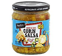 Signature Select Salsa Corn Medium - 16 Oz