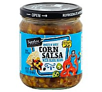 Signature Select Salsa Corn W/Black Bean Medium - 16 Oz