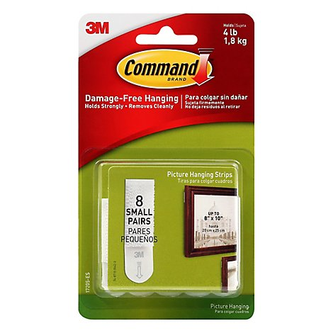 Command 3M Picture Hanging Strips Small - 8 Count