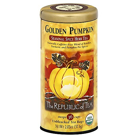 Republic Tea Golden Pumpkin Herbal - 36 Count