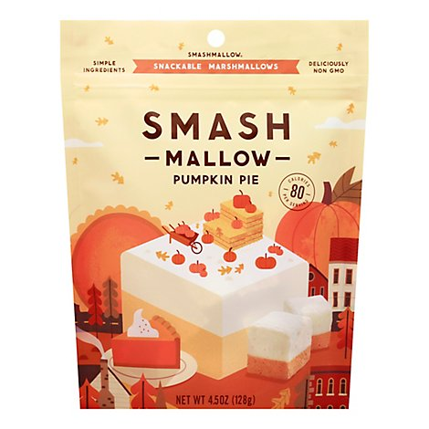 Smashmallow Marshmallows Snackable Pumpkin Pie - 4.5 Oz