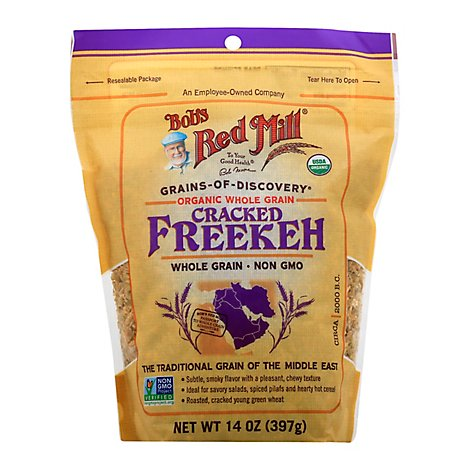 Bobs Red Mill Grains Of Discovery Organic Freekeh Cracked Whole Grain Non GMO - 14 Oz