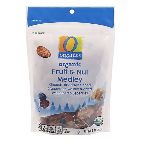 O Organics Trail Mix Fruit & Nut Medley - 9 Oz