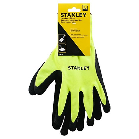 Stanley Gloves Foam Latex Large - Each