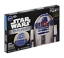 Pillsbury Ready To Bake! Shape Sugar Cookies Pre Cut Star Wars R2 D2 Holiday 24 Count - 11 Oz