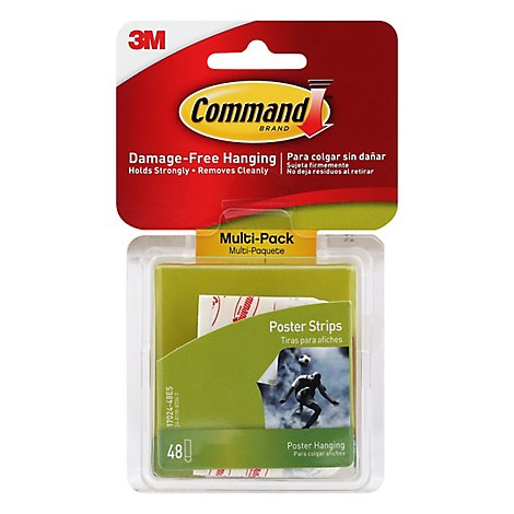 Command Poster Strips Multi Pack - 48 Count