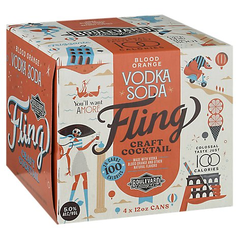 Fling Blood Orange Vodka Soda Can - 4-12 Fl. Oz.