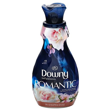 Downy Infusions Fabric Conditioner Romantic White Tea & Peony - 32 Fl. Oz.