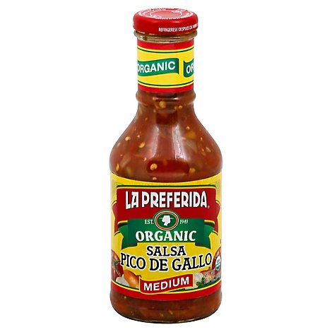 La Preferida Organic Salsa Pico De Gallo Medium - 15.3 Oz