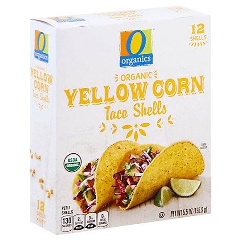 O Organics Taco Shells Yellow Corn 12 Count - 5.5 Oz