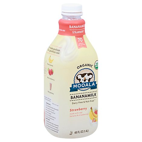 Mooala Organic Bananamilk Strawberry - 48 Fl. Oz.