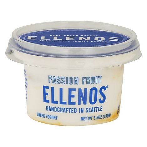 Ellenos Yogurt Greek Passion Fruit - 5.3 Oz