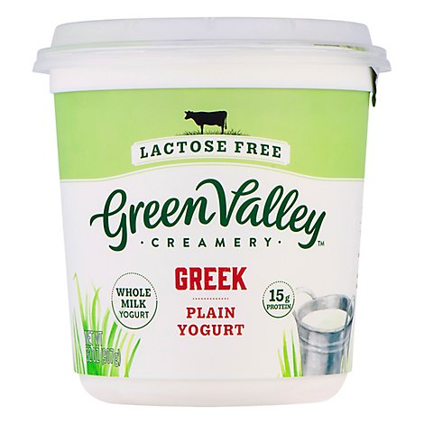Green Valley Yogurt Grk Lf Wh Mlk Pl - 32 Oz