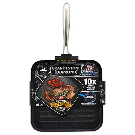 Granitestone Diamond Grill Pan Non Stick Aluminum 10.5 Inch - Each