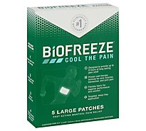 Biofreeze Pain Relief Patches Menthol Large - 5 Count