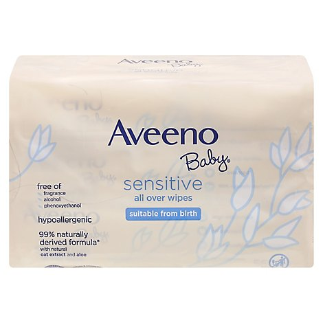 Aveeno Baby Wipes All Over Sensitive - 168 Count